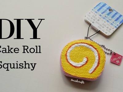 "DIY ""Cafe de N"" inspired Cake Roll Squishy | mishcrafts"