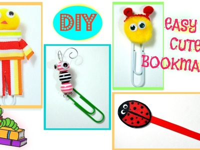 DIY Crafts: Cute and Easy Bookmarks