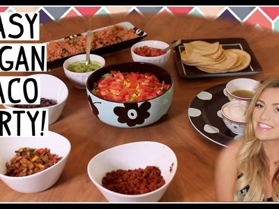 DIY: Easy Vegan Taco Party! [DANI LAUREN]