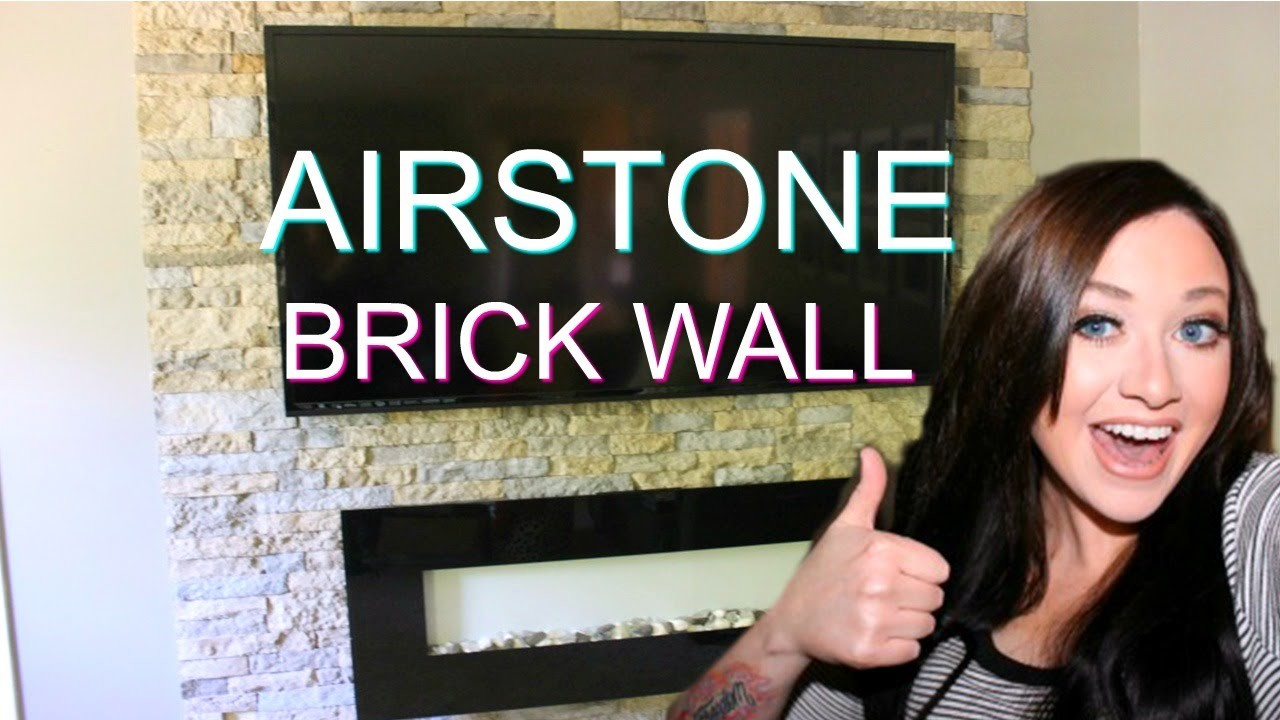 DIY: EASY VENEER STONE ACCENT WALL! AIRSTONE BRICK WALL