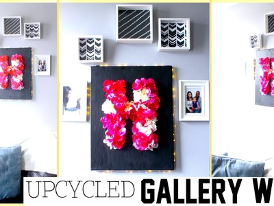 DIY FAIL TURNED INTO PREVAIL!! GALLERY WALL DIY with FLORAL MONOGRAM LETTER | Sensational Finds