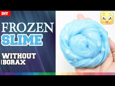 DIY Frozen Slime Without Borax | How To Make Elsa Icy Blue Snowflakes Slime | JellyRainbow