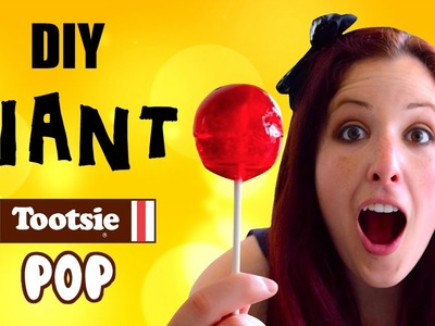 DIY Giant Tootsie Pop and Tootsie Pop Ring Pop. How to make homemade lollipops and Ring Pops