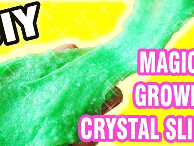 DIY Glitter Slime with Growing Jelly Crystals by Bum Bum Surprise Toys