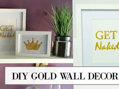DIY Gold Leaf Wall Art | ALANNA FOXX