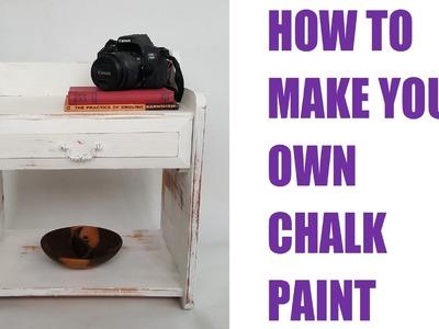 DIY: How to Make Chalk Paint | Vikkie's Vintage