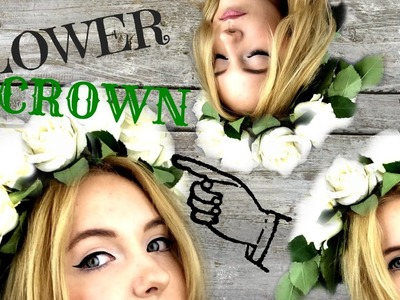 DIY - HOW TO MAKE FLOWER WHITE ROSE CROWN !