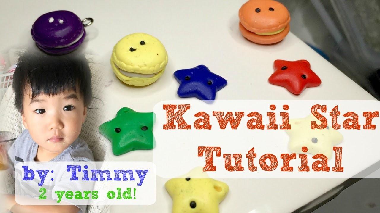 DIY Kawaii Star Tutorial by a Toddler [Polymer Clay] by Timmy