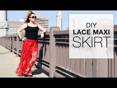 DIY Lace Maxi Skirt Tutorial