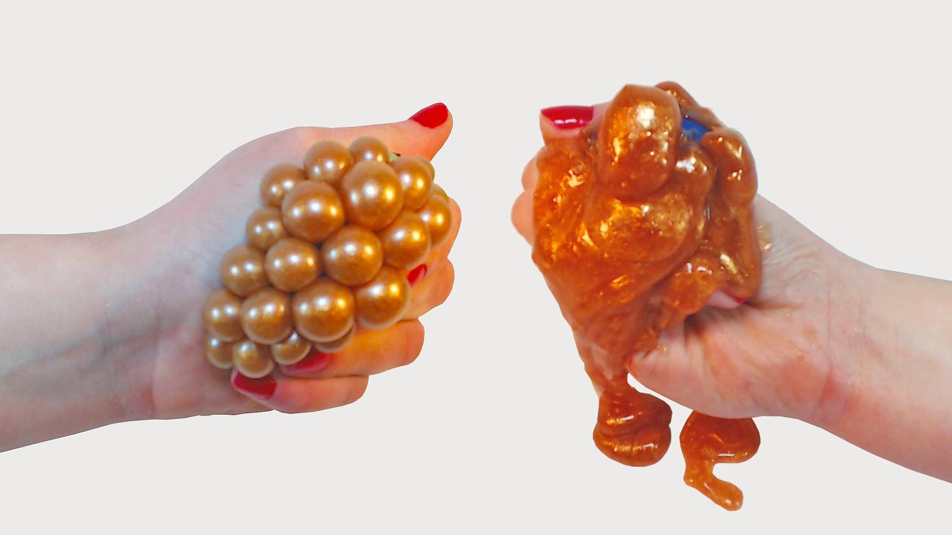 DIY Metallic 'Rusty' Slime Stress Ball & Cutting It Open