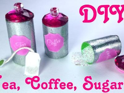 DIY Miniature Tea Bags, Coffee, Sugar & Canisters - Dollhouse Kitchen