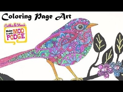 DIY Mixed Media Art with Coloring Pages