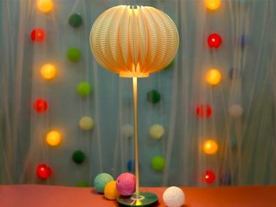 DIY Paper Plate Hi-Tech Lamp Design