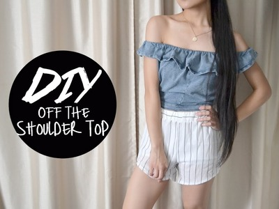 DIY Skirt into Off the Shoulder Top | Injoyy