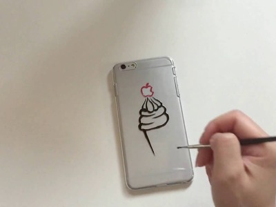 DIY : speed ink drawing on phone case | Ice Cream