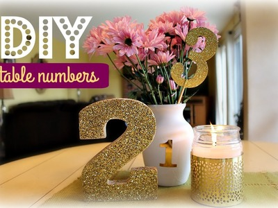 DIY TABLE NUMBERS   White & Gold Edition   Kelly Lamich