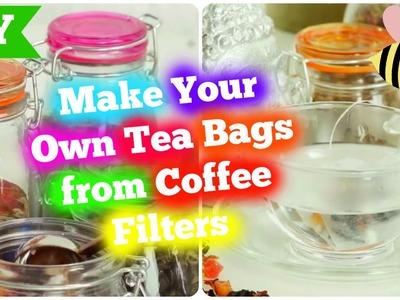 DIY Tea Bags from Coffee Filters