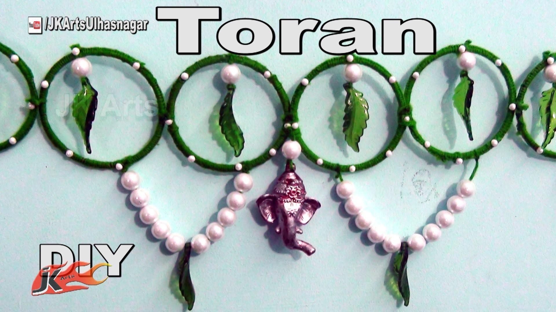 DIY Toran. Bandhanwar from waste bangles | How to make | JK Arts 960
