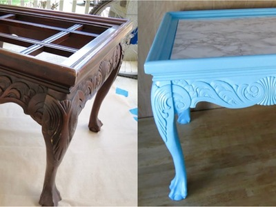 DIY Upcycled! How to redo Trash to Treasure End Table!