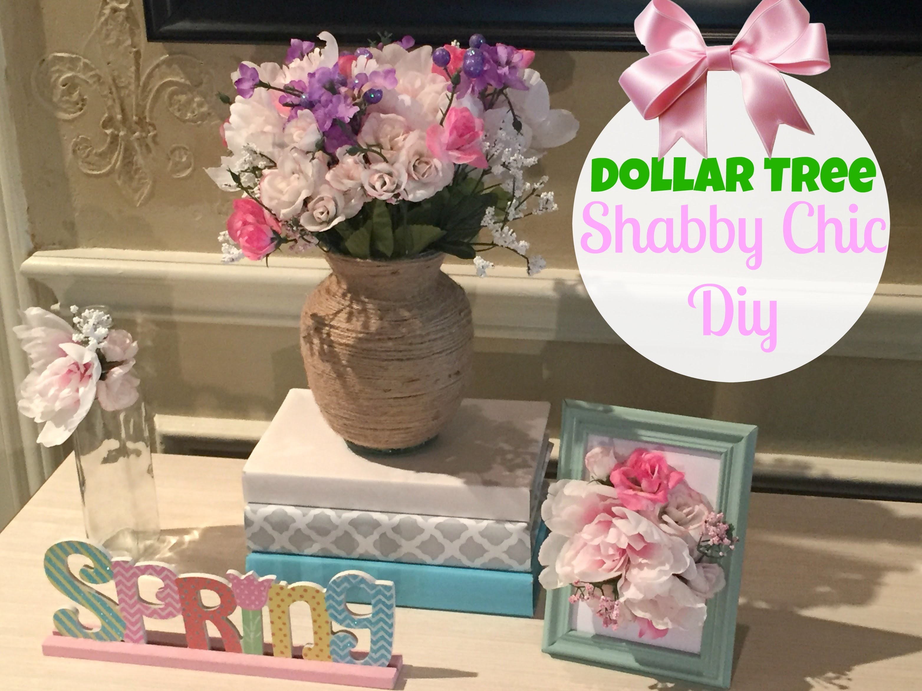 dollar tree diy shabby chic decor my crafts and diy projects. Black Bedroom Furniture Sets. Home Design Ideas