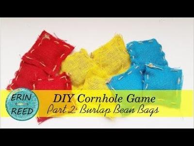 Homemade Cornhole Game - Part 2 - DIY Canvas Bean Bags #LoveSummerArt