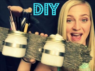 How To: DIY Mason Jar Wall Organizer