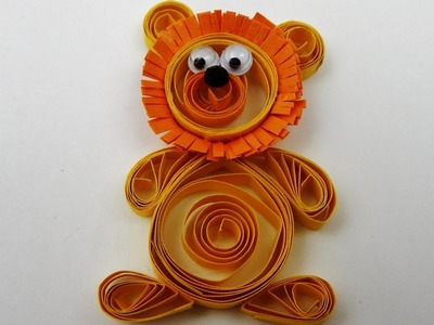 How to make a  cute quilling lion quilling animal  DIY (tutorial + free pattern)