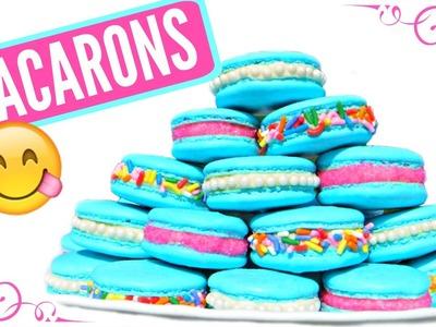 How to Make Tiffany Blue Macarons :: DIY Macarons :: Perfect Macarons :: 2CupsofDelight