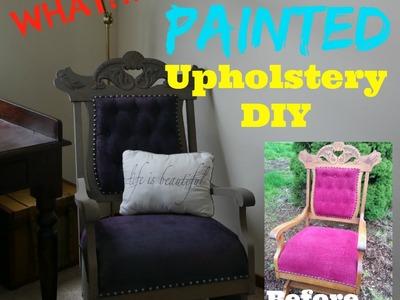 Painted Upholstery DIY Tutorial