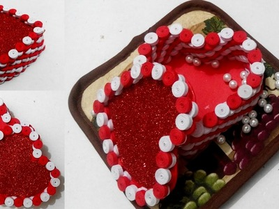 Quilling Gift box Ideas| DIY Heart For Valentine | #quilling AIOCraft#62