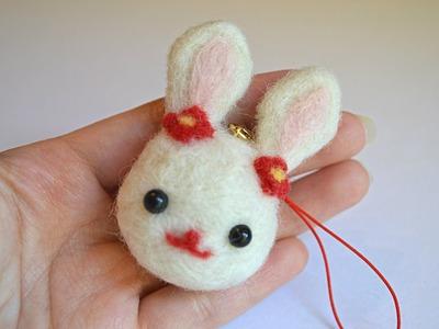 Rabbit Plush DIY Daiso Needle Felt Tutorial!