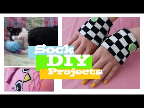 ❤ Three DIY Projects Using Socks! Easy and Cute! ❤