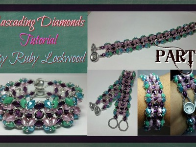 (Tutorial) Cascading Diamonds Bracelet DIY (Video 178) PART 1