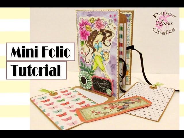 Tutorial Mini Folio - DIY SCRAPBOOK