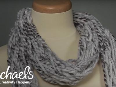 Arm Knitting: Scarf   Michaels