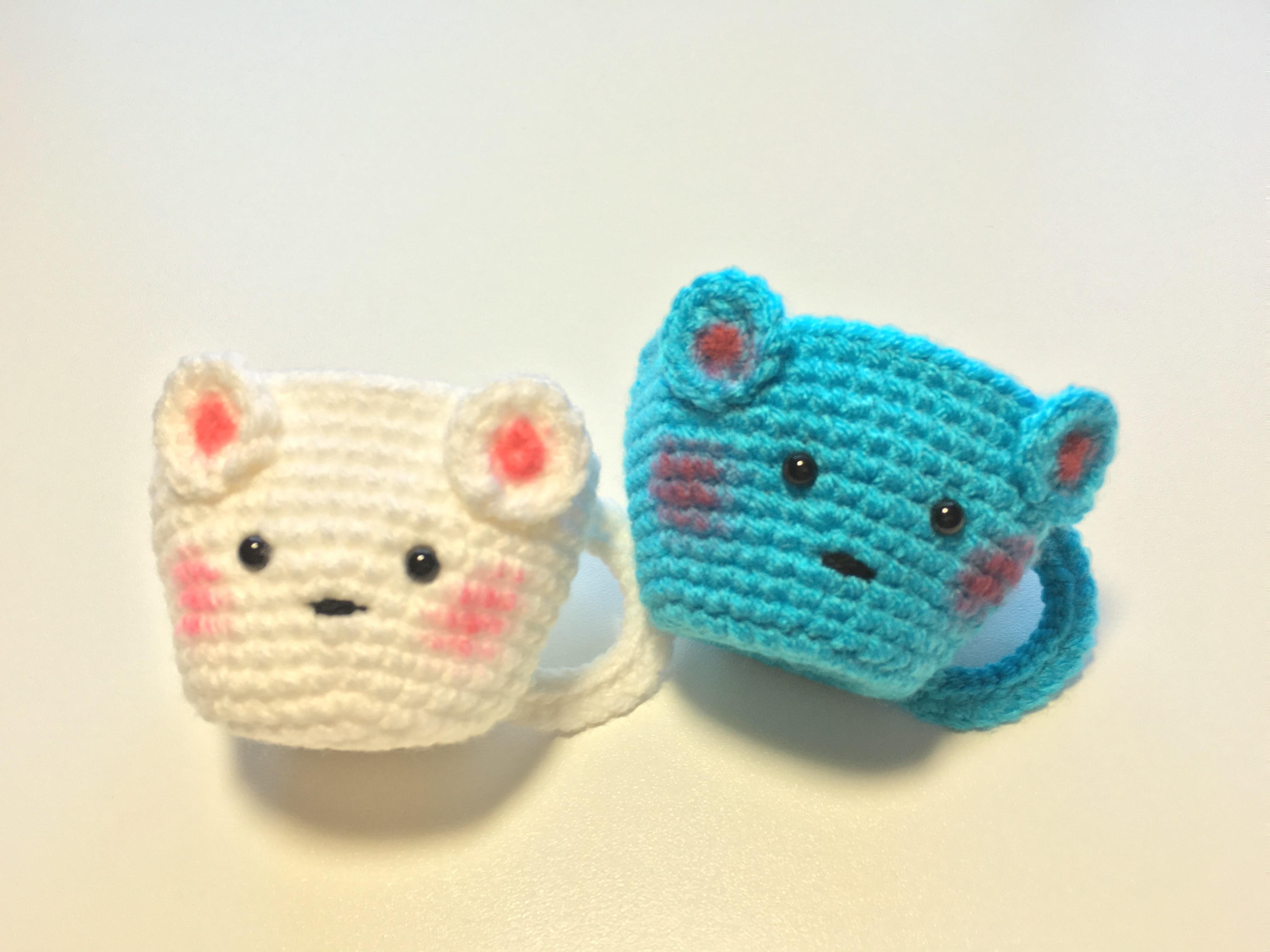 Como hacer una taza a crochet. how to crochet a tea cup