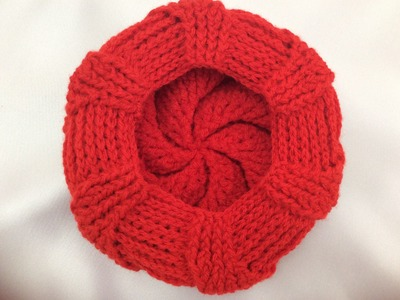 Crochet beret hat part4( round 16_18)