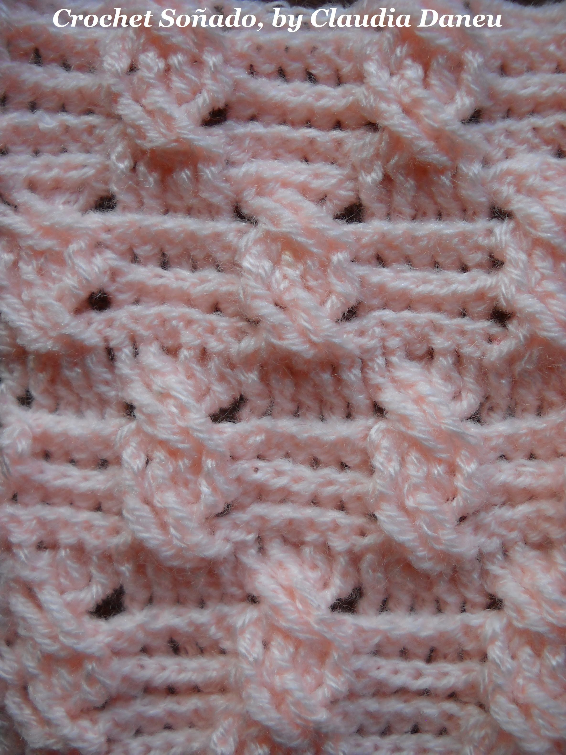 Crochet Cable Double Seed Stitch Punto Arroz Doble De