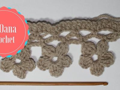 Crochet flowers border