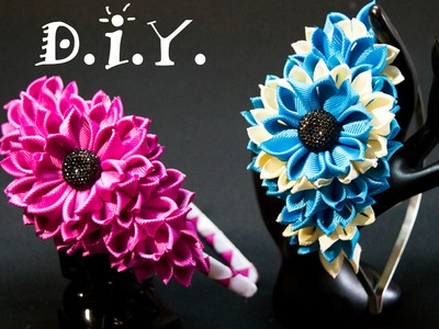 D.I.Y. New Grosgrain Kanzashi Headband