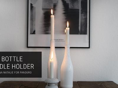 DIY BOTTLE CANDLE HOLDERS. TUTORIAL