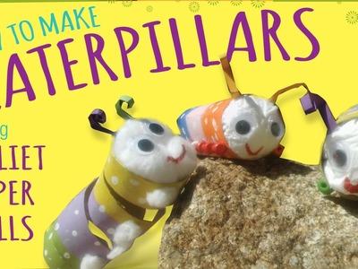 DIY Caterpillar – Toilet Paper Roll Craft - Easy Kids Craft