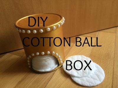 DIY cotton ball box