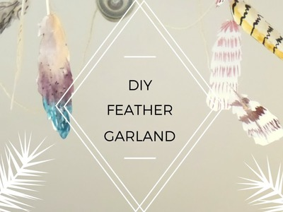 DIY Paper Feather Garland   Boho Room Decoration   by Fluffy Hedgehog