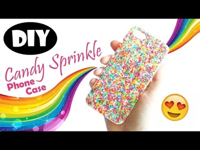 DIY Resin Candy Sprinkle Phone Case Tutorial