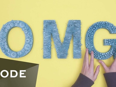 DIY Room Wall Art | Glam It Yourself ★ Mode.com