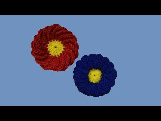 "Fiore all'uncinetto ""weathercock flower"" - tutorial passo a passo - crochet flower - flor en crochet"