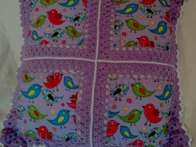 Fusion Crochet Tutorial. A patchwork and crochet technique