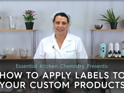 How to Apply Labels to Your Custom Cosmetic Products