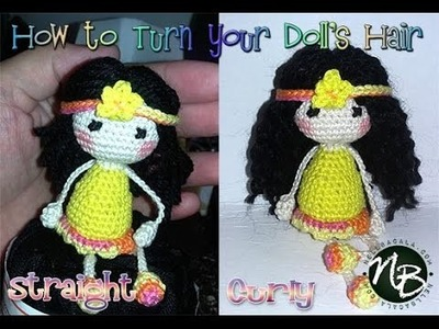 How to change doll hair from straight to curly